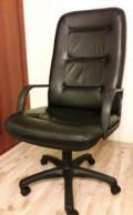 Кресло офисное кожаное хром руководителя, Карпинск