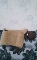 Вязаная интерьерная игрушка пультяшница-овечка, Москва