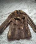 Пальто зимнее женское от производителя оптом, шуба хорек с крещенный с норкой натуральная, Новоалександровск