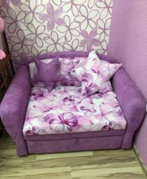Детский диван звёздочка фиолетовый