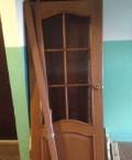 Деревянная дверь со стеклом б/у, Елховка