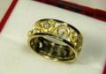 Кольцо желтое золото 585 проба муассаниты 0.09 кт, Пролетарский