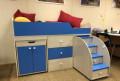Кровать-чердак Малыш 160 (Дуб сонома-Голубой), Кораблино