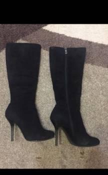 Ботинки женские зимние atlantis, сапоги замшевые зима, мех натуральный