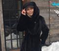 Норковая шуба blacknafa классика с капюшоном, новая форма реал мадрид с длинным рукавом, Коломна