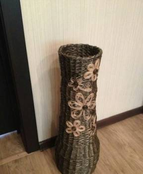 Плетеная напольная ваза 70 см