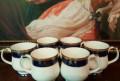 Роскошный набор чайных кружек. Кобальт. Золочение, Белореченск