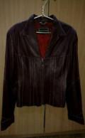 Одежда для полных дам с фигурой яблоко, куртка кожаная 46 размер, Вологда