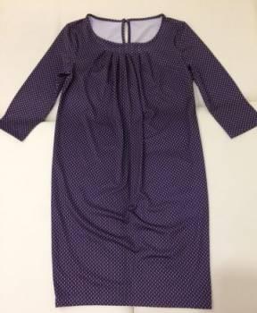 Черное платье с черными стразами на воротнике, платье для беременных, Чебоксары, цена: 250р.