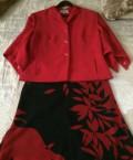 Платья с баской купить, костюм красный, Москва