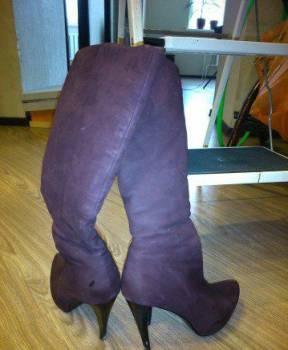 Обувь на каблуке kitten heel, сапоги зимние