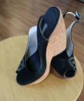 Туфли на платформе бежевые с белой подошвой, босоножки, Морозовск