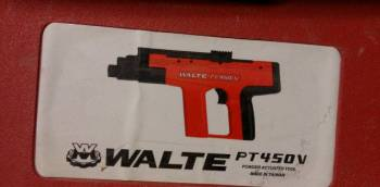 Пороховой пистолет монтажный walte PT450V