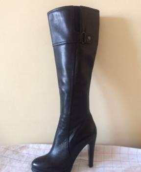 Новые сапоги из натуральной кожи (черные) весенние, кроссовки nike roshe run id black, Стерлитамак, цена: 5 000р.