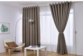 Лён тёмно-серый Не пропускает свет плотная ткань, Белогорск, цена: 549р.