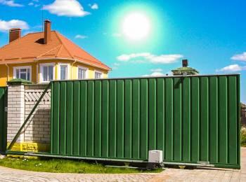 Откатные ворота в Павловском Посаде