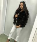 Купить теплые женские джинсы на флисе в интернет магазине, новая шубка. Натуральный песец. Арт: 145, Владивосток
