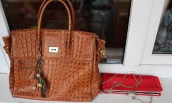 Стильная сумка и атласный клатч