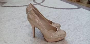 Новые туфли на торжество или выпускной, женские зимние кеды на танкетке