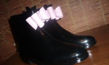 Женские резиновые сапоги. размер 39, bikkembergs обувь со скидкой