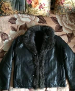 Зимняя кожаная куртка, толстовка levis с капюшоном, Нижнеудинск, цена: 5 000р.