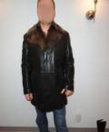 Куртка кожаная черная мужская р.54-56, мужские свитера купить в недорого, Столбовая