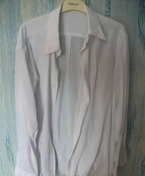 Рубашка мужская белая, футболка поло белая реал мадрид купить, Тула, цена: 150р.