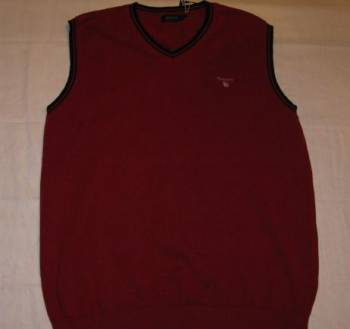 Интернет магазин очень дешевой одежды из китая, новый жилет мужской Gant бордовый хлопок, Некрасовское, цена: 699р.
