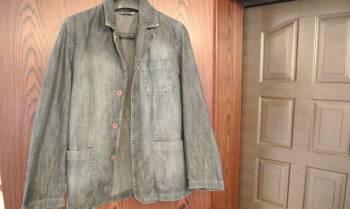 Модная мужская одежда для худых, пиджак джинсовый, Сурское, цена: 1 000р.