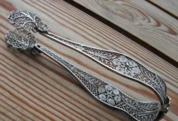 На камин- серебряные щипцы для сахара-RRR, Пушкинские Горы, цена: 3 300р.
