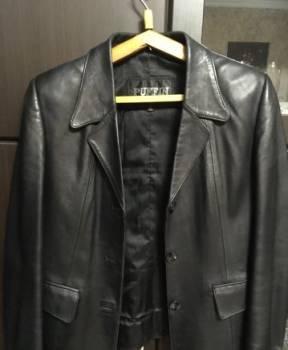 Кожаный пиджак, платье из атласа с гипюром, Дубовское, цена: 800р.