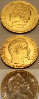 Золотые монеты Французской империи 900 проба, Сокур, цена: 17 000р.