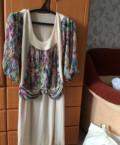 Платья со спущенным рукавом фонарик, новое платье 48 размера, Каскара
