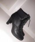 Ботильоны на шнуровке, зимние ботинки на платформе шафа, Медногорск