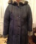 Дублёнка, джинсовая куртка с черным платьем, Шигоны