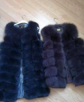 Платье рубаха клетка, жилеты песец новые, Малоархангельск, цена: 7 500р.
