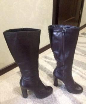 Сапоги коричневые зимние, итальянская обувь гуардиани, Тамбов, цена: 2 000р.