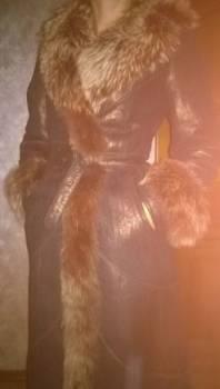 Фирма одежды бестия, дублёнка женская, натуральная, Кедровый, цена: 5 000р.