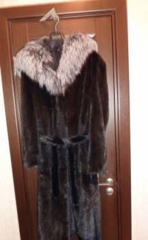 Шуба норковая с капюшоном из чернобурки, красивая одежда для девушек 20 лет 2020 года, Белгород, цена: 65 000р.