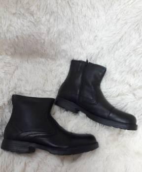 Бутсы найк черные с золотой подошвой, новые зимние мужские ботинки (натур кожа+мех), Урмары, цена: 1 990р.