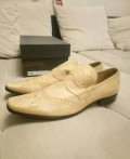 Туфли мужские 42 р светлые, модная классическая мужская обувь, Балакирево