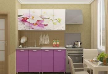 Кухня с фотопечатью Орхидея, мдф, Владимир, цена: 10 690р.