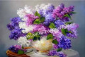 Картина по номерам 40*50 см Сирень в белой вазе, Стародеревянковская