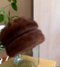 Шуба из норки белая с чернобуркой цена, женская норковая шапка, Карсун
