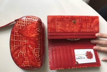 Косметичка+кошелёк Fiore Rosso, лаковая кожа