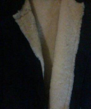 Тулуп (пуховик) из овчины (рыбалка лес), купить мужское кашемировое пальто в магазины