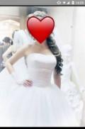 Черное платье карандаш и бежевые туфли, свадебное платье, Михайловск