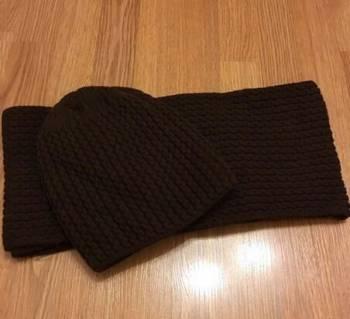 Комплект шапка и шарф, платье реглан на резинке