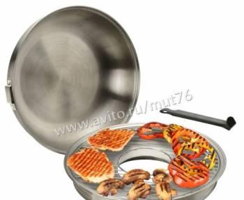 Гриль газ D505 сковорода нержавеющая сталь И други