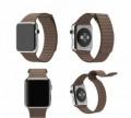Кожаный блочный ремешок Apple Watch 38mm, коричнев, Калининград